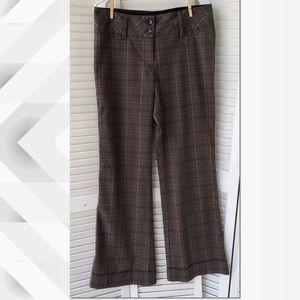 EUC Maurices Wide Leg plaid trousers Sz 9/10